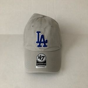 NEW gray Los Angeles dodgers 47 brand hat